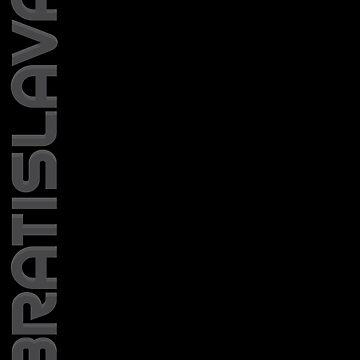 Bratislava Vertical Text by designkitsch