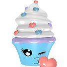 zwinkerndes Cupcake Emoticon von Stefanie Keller