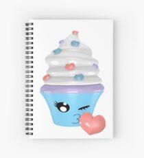 zwinkerndes Cupcake Emoticon Spiralblock