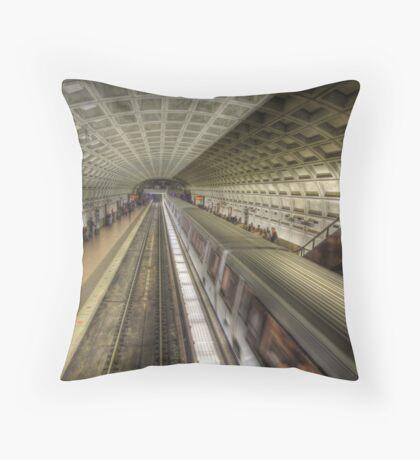 Smithsonian Metro Station Throw Pillow