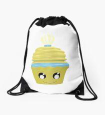 Cupcake Emoticon mit Geistesblitz Rucksackbeutel
