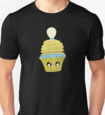 Cupcake Emoticon mit Geistesblitz Unisex T-Shirt