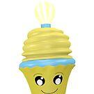 Cupcake Emoticon mit Geistesblitz von Stefanie Keller
