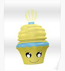 Cupcake Emoticon mit Geistesblitz Poster