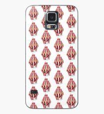 Cupcake Emoticon in Denkerpose Hülle & Klebefolie für Samsung Galaxy