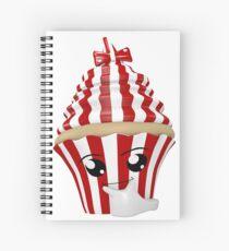 Cupcake Emoticon in Denkerpose Spiralblock