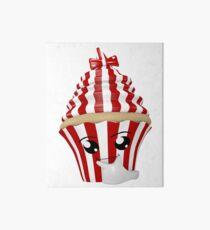 Cupcake Emoticon in Denkerpose Galeriedruck
