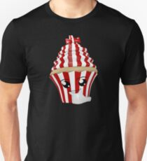 Cupcake Emoticon in Denkerpose Unisex T-Shirt