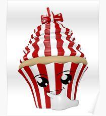 Cupcake Emoticon in Denkerpose Poster