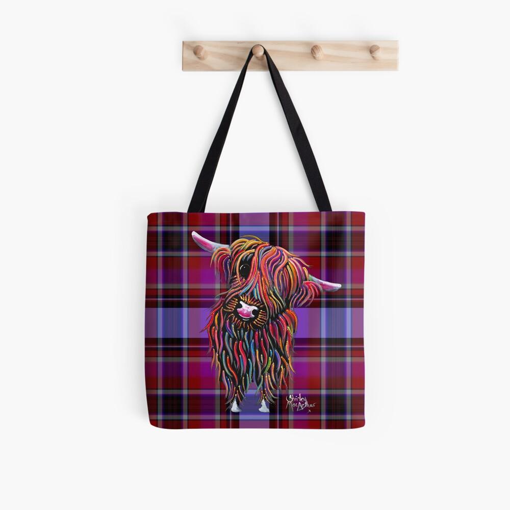 SCoTTiSH HiGHLaND CoW ' TaRTaN BoLLY P ' BY SHiRLeY MacARTHuR Tote Bag