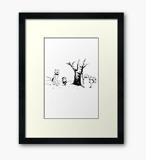 Jon and Ghost (Black and White) Framed Print