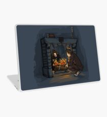 The Witch in the Fireplace Laptop Skin