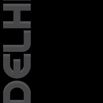 Delhi Vertical Text by designkitsch