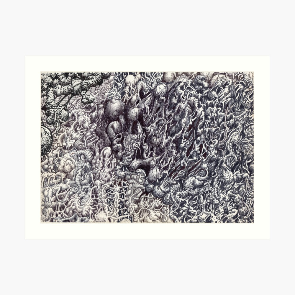 Organic Eruption Art Print