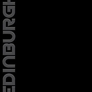 Edinburgh Vertical Text by designkitsch