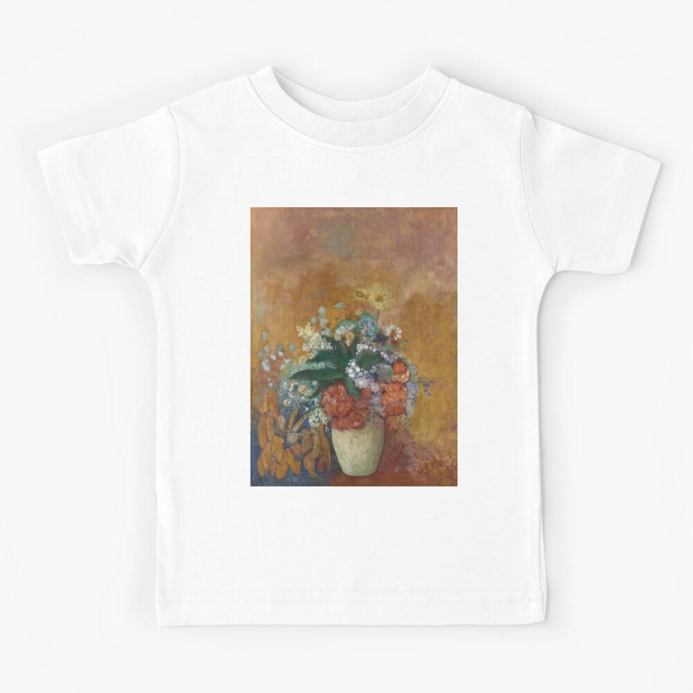 Odilon Redon. Vase of Flowers, 1905. Kids T-Shirt