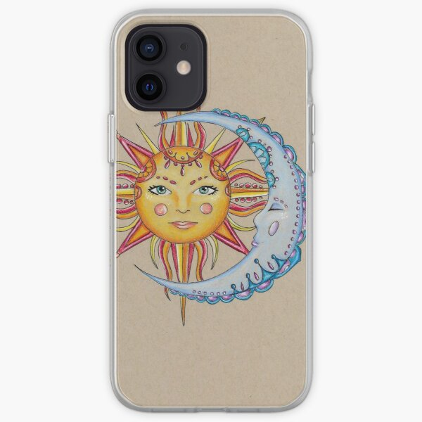 sun and moon (drawing) iPhone Soft Case