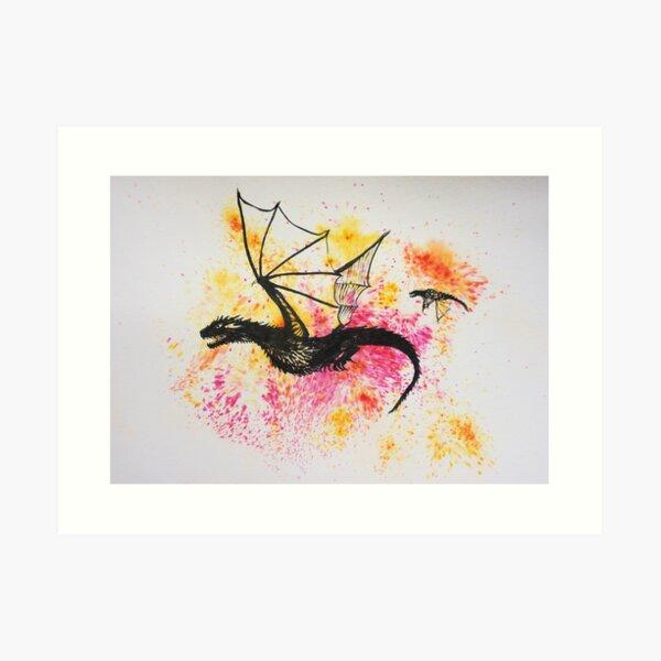 Dragons of Morning Art Print