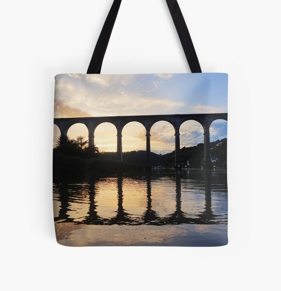 Dusk on the River All Over Print Tote Bag