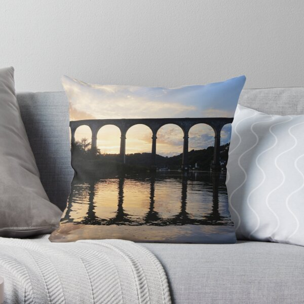 Dusk on the River Throw Pillow