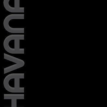 Havana Vertical Text by designkitsch