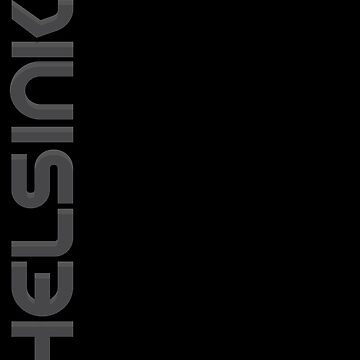 Helsinki Vertical Text by designkitsch