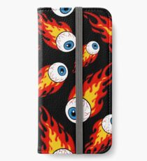 Flaming Eyeball Pattern iPhone Wallet/Case/Skin