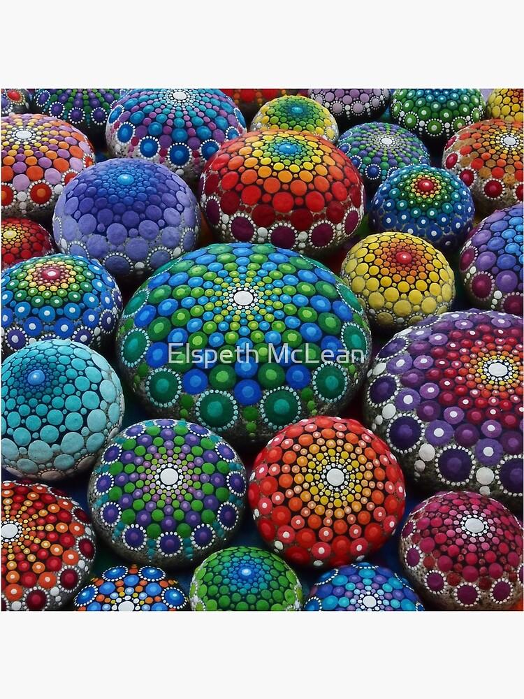 Jewel Drop Mandala Stone Collection # 1 de ElspethMcLean