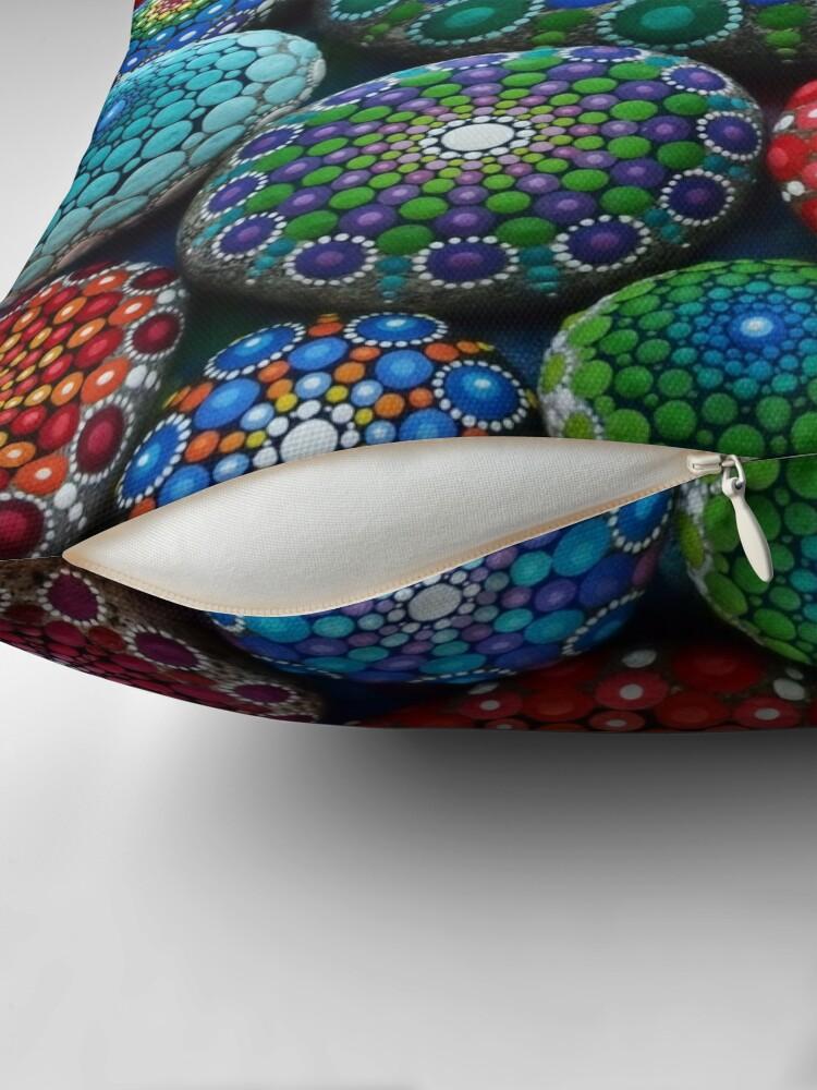 Vista alternativa de Cojín Jewel Drop Mandala Stone Collection # 1