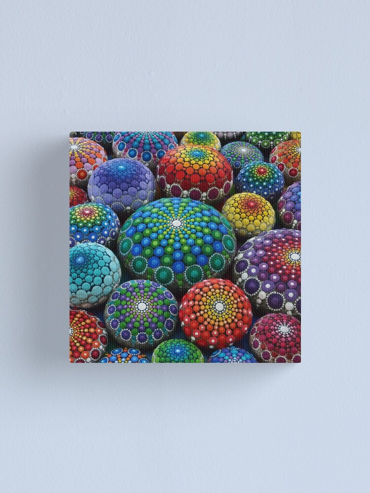 Alternate view of Jewel Drop Mandala Stone Collection #1 Canvas Print