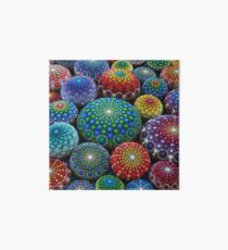 Jewel Drop Mandala Stone Collection #1 Art Board