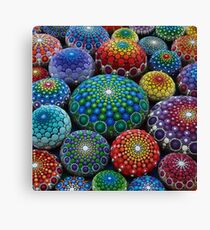 Jewel Drop Mandala Stone Collection #1 Canvas Print
