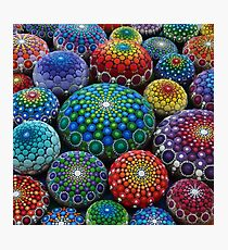 Jewel Drop Mandala Stone Collection #1 Photographic Print