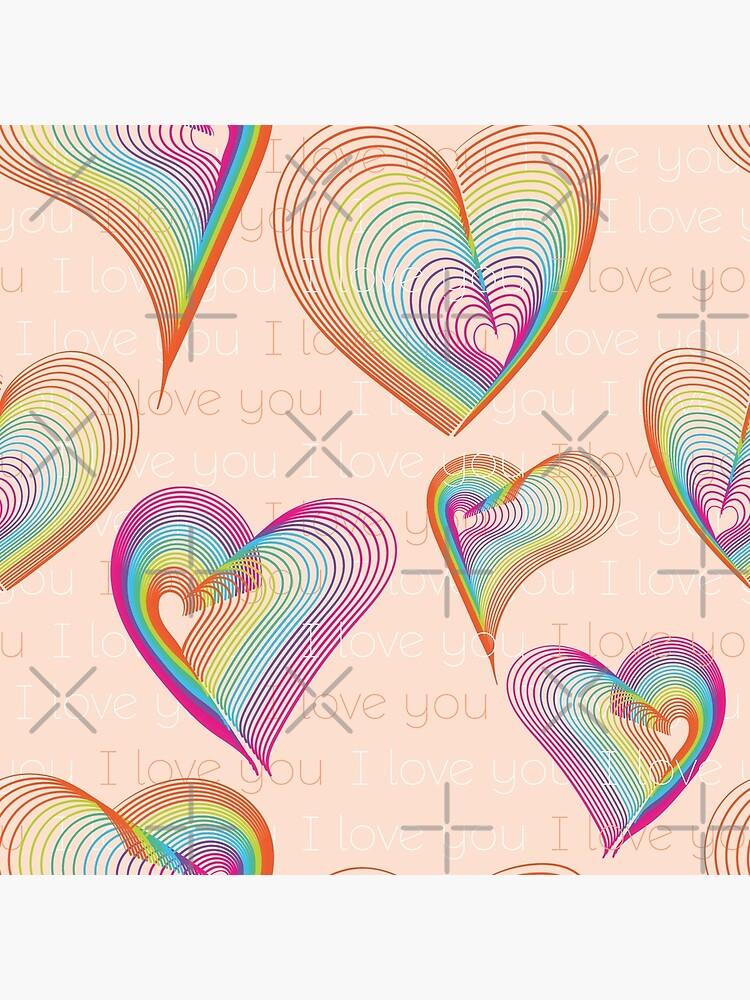 Rainbow hearts pattern by nobelbunt