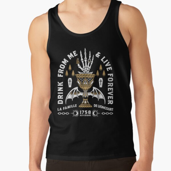 Drink From Me - Lestat Vampire - Gothic Quote Tank Top