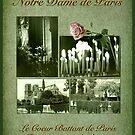 Notre Dame de Paris in Green by Bonnie M. Follett