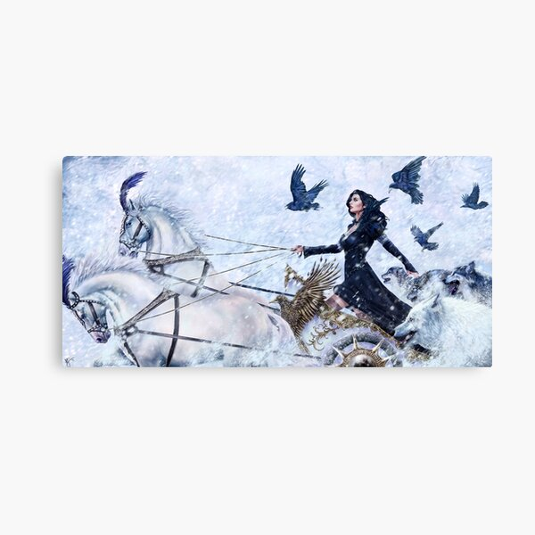 Yennefer Ice Queen Canvas Print