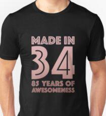 85th Birthday Gift Adult Age 85 Year Old Women Grandma Mom Slim Fit T Shirt