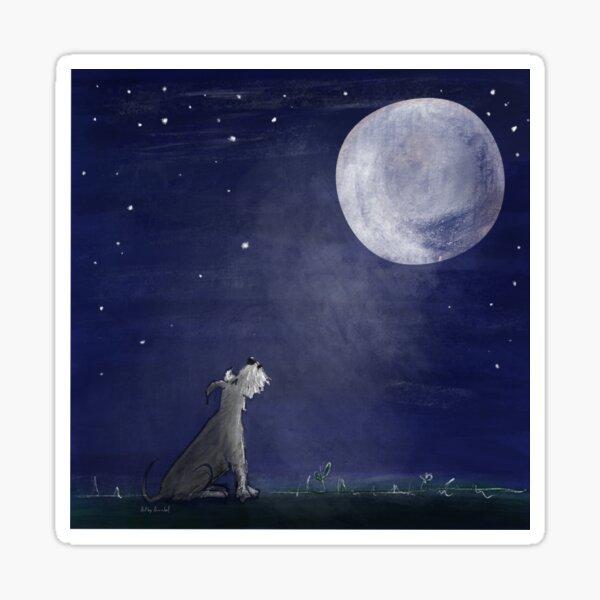 Moonlit howl Sticker