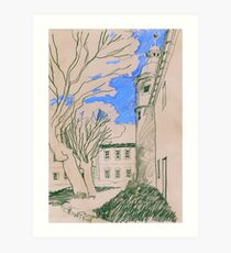 Königsblau im Schlosshof Art Print