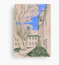 Königsblau im Schlosshof Canvas Print