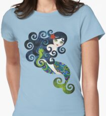 Aquamarine, the Teenage Mermaid Womens Fitted T-Shirt
