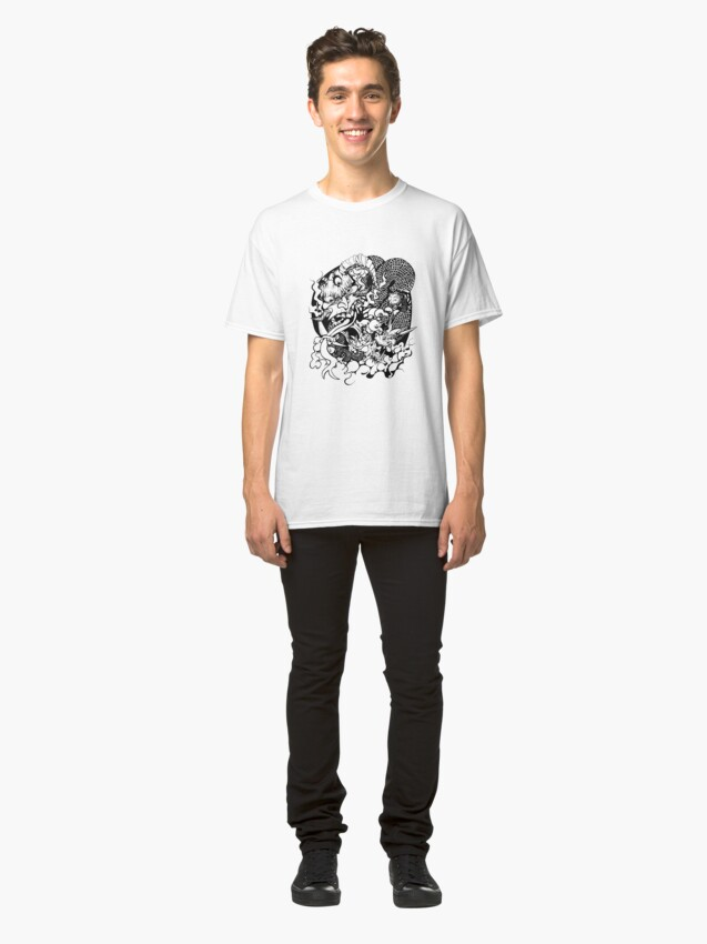 Alternate view of Demon Head and Dragon Classic T-Shirt