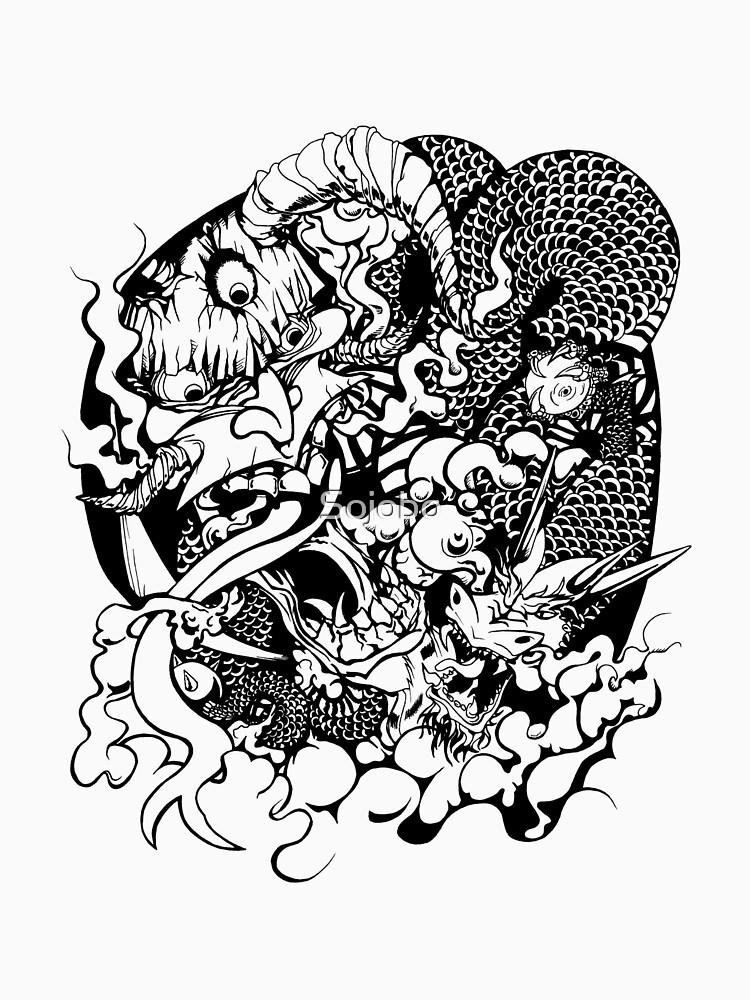 Demon Head and Dragon by Sojobo