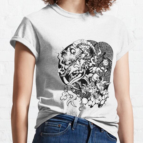 Demon Head and Dragon Classic T-Shirt