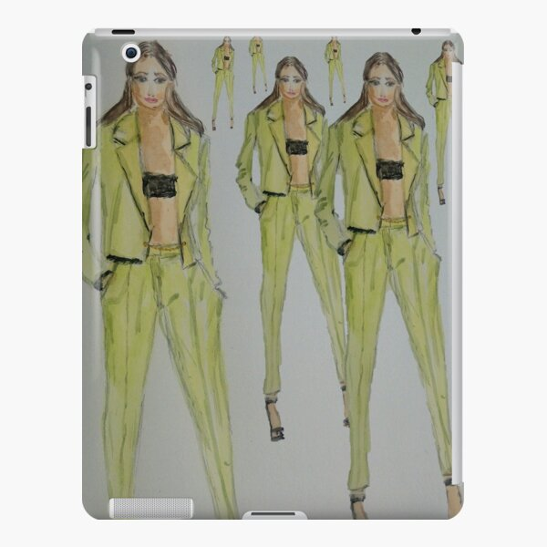 Green Suit Fashion Painting Modaodaradosti iPad Snap Case
