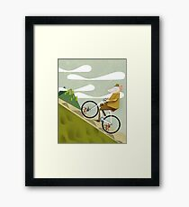 Hamster Cyclist Road Bike Poster Framed Print