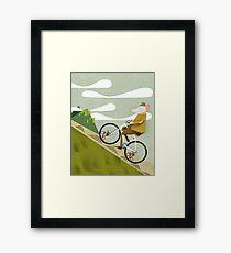 Lámina enmarcada Póster de Hamster ciclista Road Bike