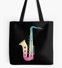 Low Poly Saxophone Shirt Saxophone Player Gift Musician Tee Tote Bag