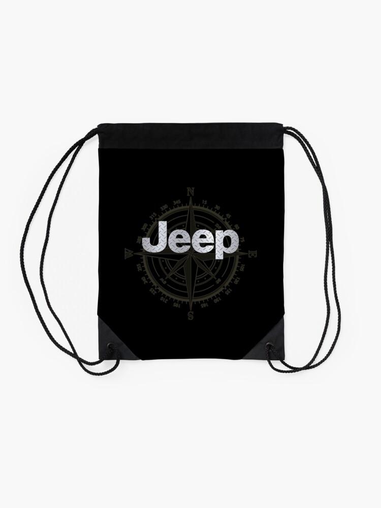 Alternate view of Jeep Diamond Plate Drawstring Bag